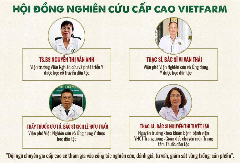 Hội đồng nghiên cứu cấp cao đích thân kiểm định chất lượng sản phẩm Vietfarm