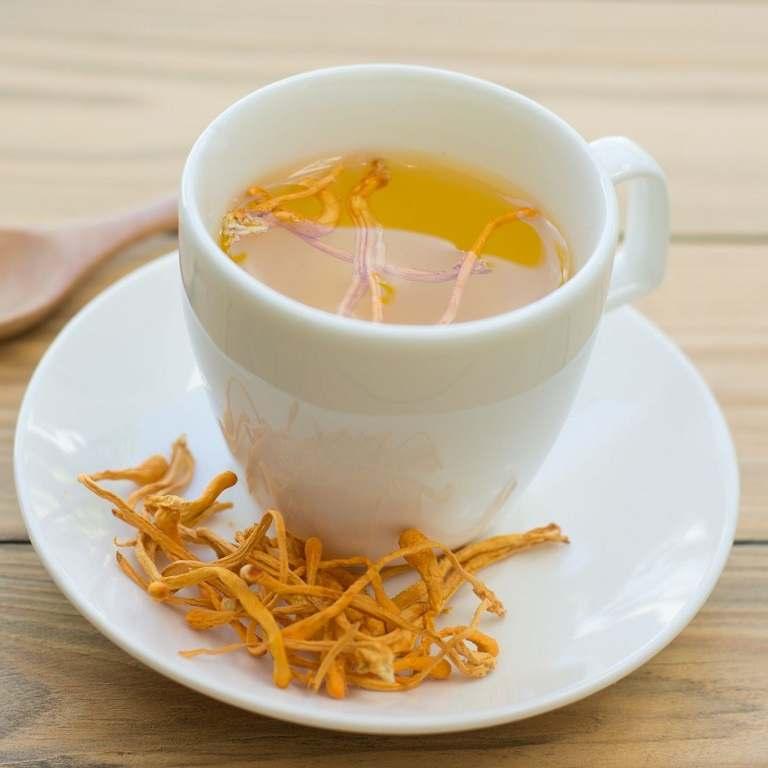 Thưởng thức trà trùng thảo giúp xua tan mệt mỏi