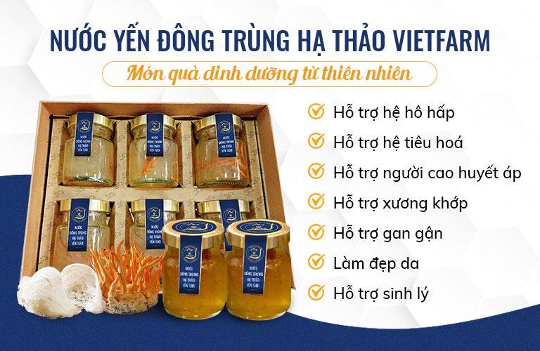 Sản phẩm của Vietfarm mang nhiều công dụng hữu ích đối với sức khỏe