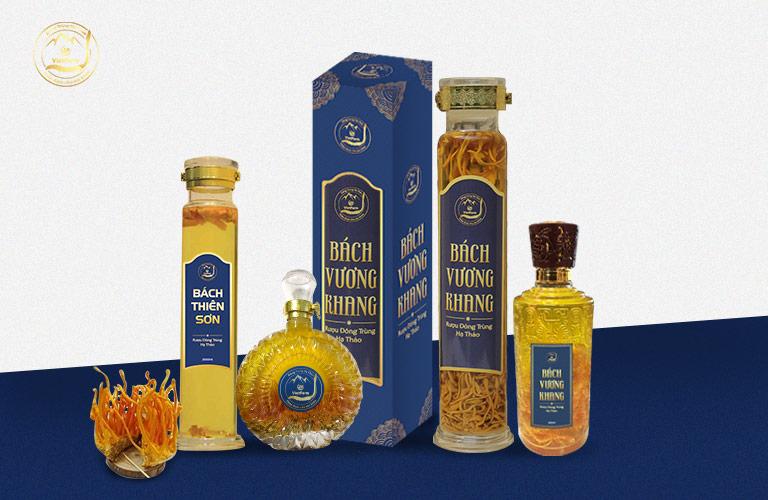 Các sản phẩm rượu đông trùng hạ thảo thượng hạng của Vietfarm